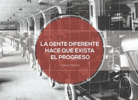 la gente diferente hace que exista el progreso