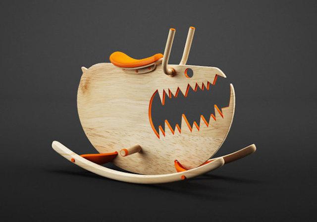 calabaza de madera