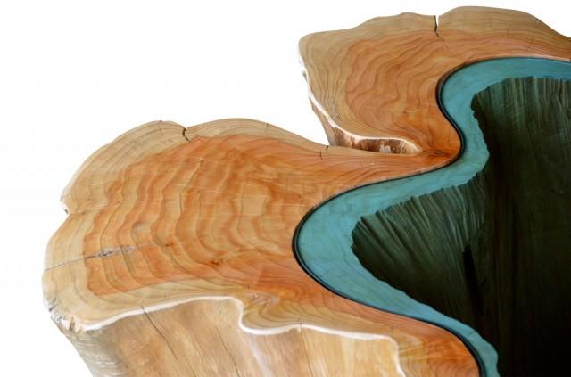 finalización y acabados de mesa de madera