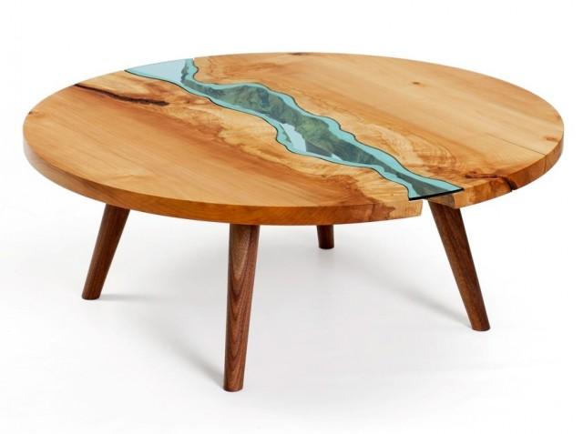 mesa redonda con diseño original