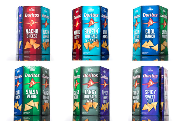 "Doritos Packaging - the ""Six Box"" by Phil Ogden"