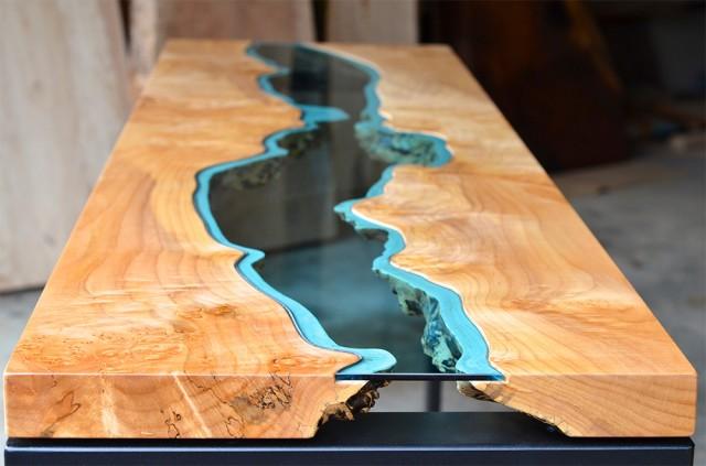 mesa original en madera